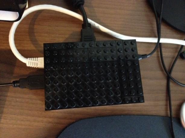 Raspberry Pi - LEGO case Uppifrån