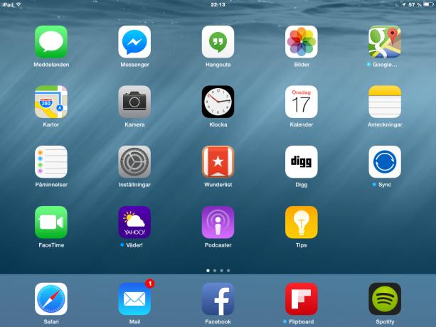 iOS8 Hemskärm